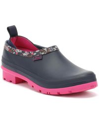 Joules - Womens French Navy Squirrel Ditsy Pop-ons Wellington Clogs - Lyst