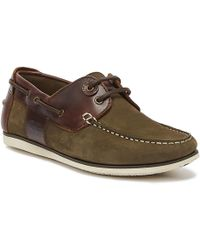Barbour - Capstan Leather Boat Shoes - Lyst