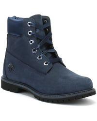 6in Premium Wp Boot Lsatin Black Iris Waterbuck