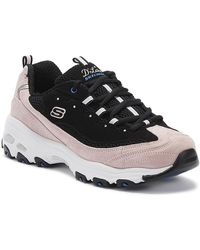 Skechers - D'lites Moon View Womens Black / Pink Trainers - Lyst