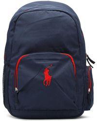 Ralph Lauren - Navy / Red Campus Backpack - Lyst