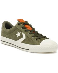 Converse - Star Player Ox Mens Field Surplus Green Trainers - Lyst