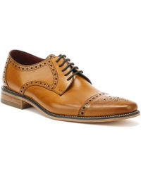 Loake Mens Tan Calf Foley Brogue Shoes - Brown