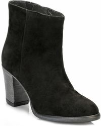 TOWER London - Tower Womens Black Classic Suede Ankle Boots - Lyst