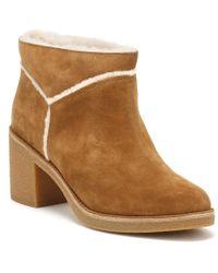 UGG - Ugg Womens Chestnut Brown Kasen Heeled Ankle Boots - Lyst