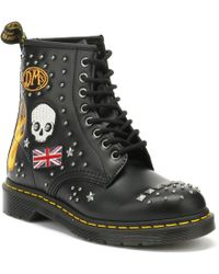Dr. Martens - Dr. Martens 1460 Rockabilly Black Boots - Lyst
