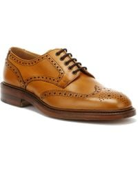 Loake - Mens Tan Chester 2 Brogue Derby Shoes - Lyst