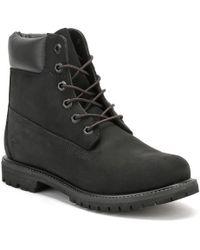 4faa594cde2 huge discount 9addd 9c04c Timberland - Womens 6 Inch Premium Black Nubuck Leather  Boots - Lyst  timeless design 0eaf8 fbfbf Timberland Atrus SNP Tall ...