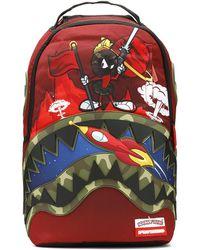 Sprayground - Camo Marvin The Martian Shark Backpack - Lyst