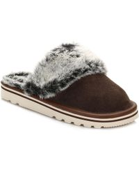 Barbour - Womens Brown Victoria Mule Slippers - Lyst