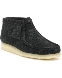 Clarks Originals Womens Black Interest Wallabee Boots