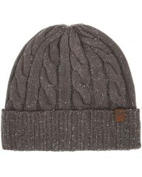 Timberland - Mens Charcoal Ribbed Fisherman Beanie - Lyst 331d17bbf0d8