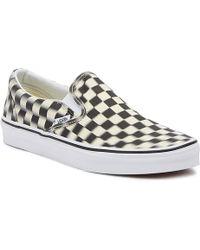 8101df84b9b272 Lyst - Vans Old Skool Lite (checkerboard) Black  White in Black