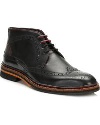 Ted Baker - Mens Black/dark Brown Cinika Brogue Boots - Lyst