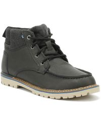 TOMS - Hawthorne Mens Forged Iron Leather Boots - Lyst