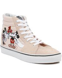 Vans - Disney Sk8-hi Mickey & Minnie Pink Trainers - Lyst