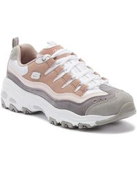 Skechers - D'lites Sure Thing Womens Pink Trainers - Lyst