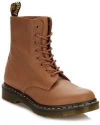Dr. Martens - Dr. Martens Womens Tan Pascal Virginia Leather Boots - Lyst