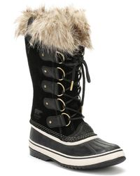 Sorel - Womens Black / Stone Joan Of Arctic Boots - Lyst