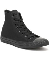 Converse - Black All Star Hi Trainers - Lyst