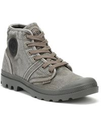 Palladium - Mens Metal / Black Pallabrouse Boots - Lyst