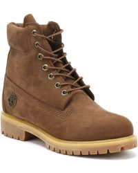 Timberland - Mens Potting Soil Brown 6 Inch Premium Boots - Lyst