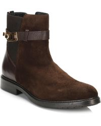 Tommy Hilfiger - Womens Coffee Bean Brown 9a Ankle Boots - Lyst