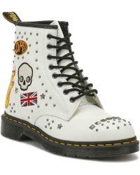 Dr. Martens - Dr. Martens White 1460 Rockabilly Boots - Lyst