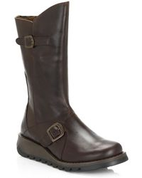 Fly London - Womens Dark Brown Mes 2 Rug Boots - Lyst
