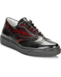 TOWER London - Tower Womens Burgundy/black Leather Shoes - Lyst