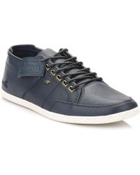 Boxfresh - Box Fresh Mens Navy Sparko Leather Trainers - Lyst