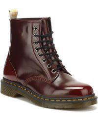 Dr. Martens - Dr. Martens Cherry Red Vegan 1460 Boots - Lyst