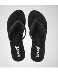 Reef - Stargazer Black-black Flip Flops - Lyst