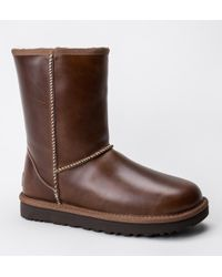 UGG - Ugg W Classic Short Leather Boots - Lyst