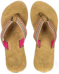 Reef - Gypsylove Pink Flip Flops - Lyst