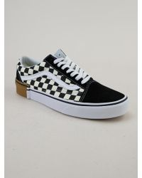 a22366a91e6 Vans - Old Skool (gum Block) Checkerboard Trainers - Lyst
