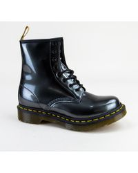 Dr. Martens - 1460 W (black Patent Lamper Leather) Women's Lace-up Boots - Lyst