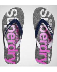 Superdry - Scuba Faded Logo Flip Flop Flip Flops - Lyst