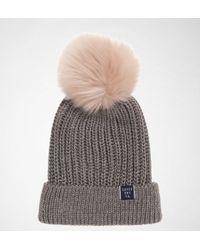 Superdry Aries Sparkle Fur Bobble Hat in Green - Lyst 7604613efc6b