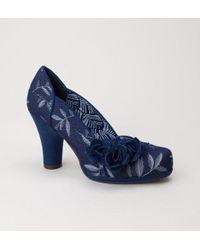 Ruby Shoo - Ruby Shoo Charlotte Navy Shoes - Lyst