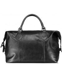 Barbour - Leather Medium Traveller - Lyst