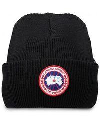 Canada Goose - Arctic Disc Toque Hat Black On Colour: Black, Uk Size: On - Lyst
