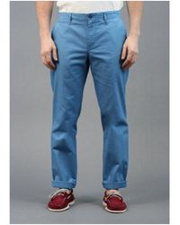 Lyle & Scott - Chino Trousers River Blue Colour: Blue, Uk Size: - Lyst