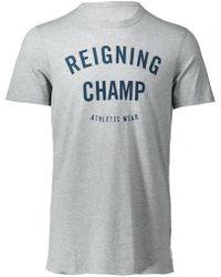 Reigning Champ - Gym Logo Tee - Lyst