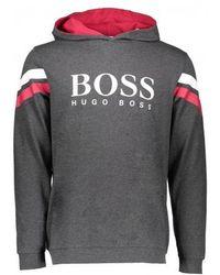 BOSS - Logo Hooded Sweatshirt - Lyst
