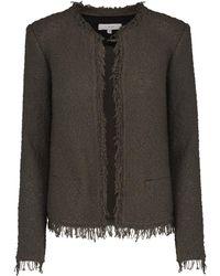 IRO - Shavani Jacket In Dark Khaki - Lyst