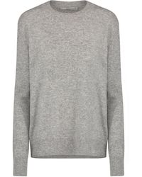 Vince - Side Tie Jumper In Steel - Lyst