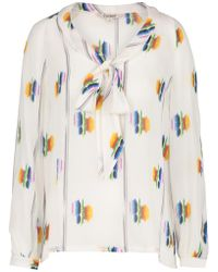 5c1af4503d9be Tucker - Tie Front Blouse In Follow The Rainbow - Lyst