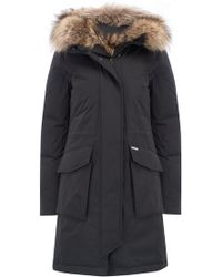 Woolrich - Military Parka In Black - Lyst