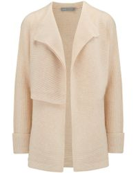 Vince - Drape Front Cardigan In Sand - Lyst